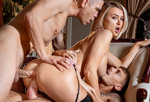 Picture Gallery of Natalia Starr gets double stuffed by her man and her guest