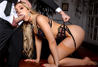 Picture Gallery of Allie Nicole bangs her husband as soon as he gets home from work