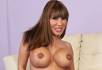 Sexy Ava Devine Fucks Herself With A Huge Black Dildo