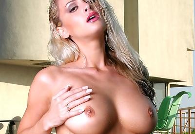 Picture Gallery of Zdenka Podkapova Wet All Over in Sexy Pink Bikini