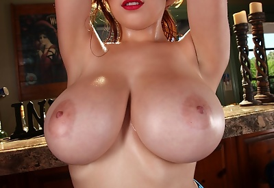 Picture Gallery of Tessa Fowler Big Boobs Babe in Blue Lingerie