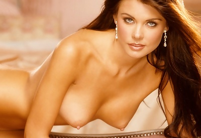 Picture Gallery of Sandra Nilson topless on couch