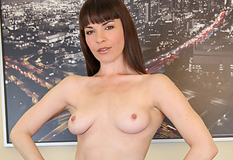 Dana Dearmond Loves Masturbating With Her Fingers And Her Metal Vibrator