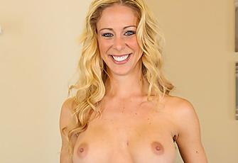 Blonde Hottie Cherie Deville And Her Perky Boobs Love To Masturbate