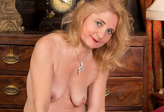 Beautiful Cougar Lily Roma Gets Nasty On Her Satin Sheets