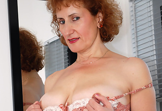 Mom So Horny After A Day In The Office Masturbates On The Floor