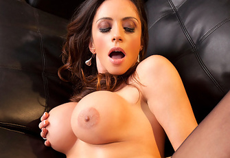 --C'mere, young blood,-- Ariella Ferrera playfully drawls at Billy Blaze as she grabs his big cock. Watch this classy honey slobber and swallow and then tea-bag Billy's erect member!