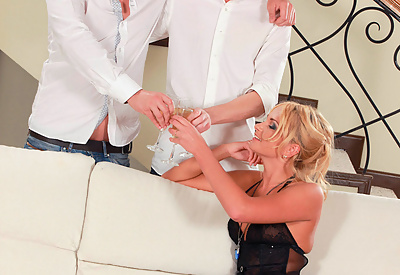 Picture Gallery of Ivana Sugar gets drilled by two hard cocks simultaneously