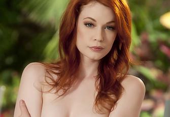Justine Joli Hot Redhead Fingering