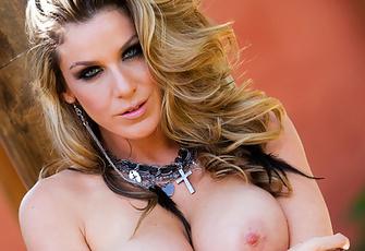 Kayla Paige Big Boobs in Black Bra