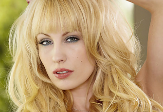 Kiara Diane Blonde Model Spreads in High Heels