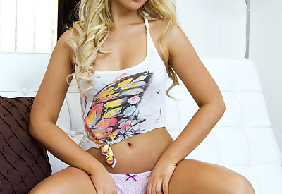 Picture Gallery of Cute blonde Ashley Zeitler teasing in a tight Top