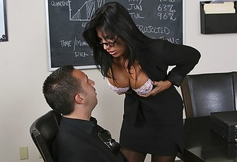 Lezley Zen fucking and squirting on the conference table