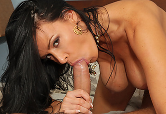 Vanilla Deville gets her impeccable pussy pumped by her stepson