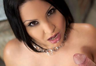 Sophia Lomeli seduces the handyman in the back alley