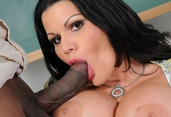 Busty Angelina Castro Fucked hard by a big black Cock