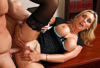 Tanya Tate fucked by her co-worker in the office