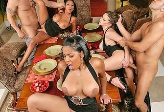 Havana Ginger swapping husbands with Rachel Roxxx and Priya Rai