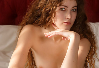 Adel C Poses Naked On The Bed And Exposes Her Perfect Body