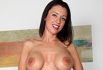 Sexy J Love Loves Masturbating With Her Golden Vibrator